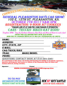Cookees Drive-In Car Show 2017