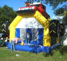 Cookees Gerneral Pleasonton Days Car Show 4X4 Jumpy House for the kids