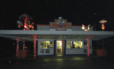 Night View of Cookees Christmas Decorations 2008