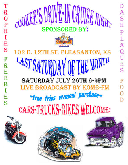 Cookees Drive-In First Cruise Night 2008 Flier