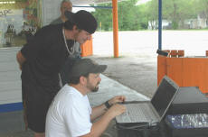 Cookees Drive-In Cruise Night Working The DJ Laptop Setup