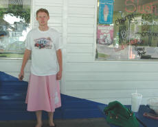 Cookees Drive-In Cruise Night Cody Wearing Pink Poodle Skirt