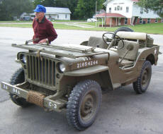 Cookees Drive-In 1945 WWII Jeep