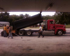 Cookees Drive-In New Parking Lot Two Truckloads Of Asphalt