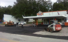 Cookees Drive-In New Parking Lot Front View Of Asphalt Crew