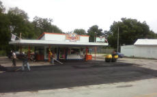 Cookees Drive-In New Parking Lot Side View Of New Asphalt Work
