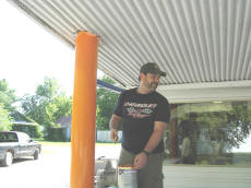 Doug Putting On New Colors At Cookees Drive-In 2008