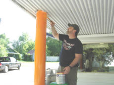 Doug Painting Bright New Colors At Cookees 2008