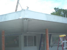 Painting The Awning At Cookees Drive-In 2008