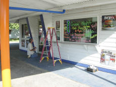 Painting The Front Door At Cookees Drive-In 2008
