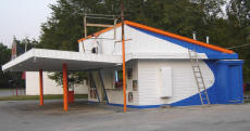 Trim And Poles Painted Orange At Cookees Drive-In 2008
