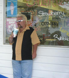 our friend rick as Guy Fieri from the Food Network Diners Drive-in and Dives Visited1